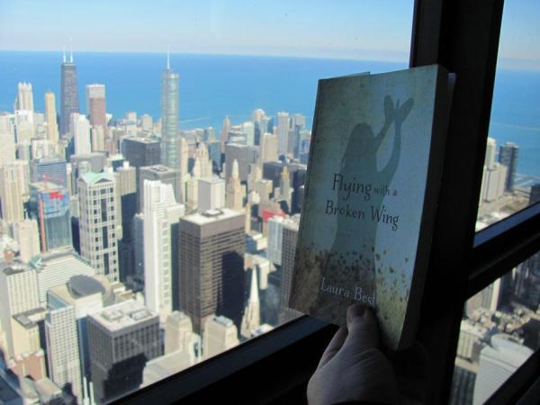 On the Skydeck at Willis Tower, Chicago.